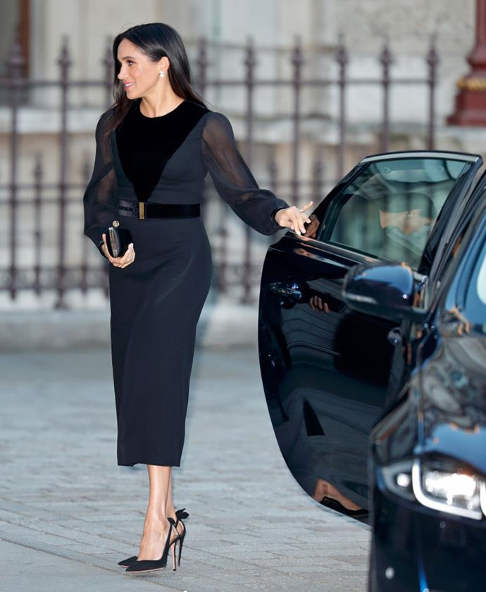 "**September 2018: Meghan Markle makes her first solo outing as a royal (and is criticised for closing her own car door)**<br><br>  It was the royal 'scandal' no one quite saw coming. In September 2018, Meghan attended the opening of 'Oceania' at the Royal Academy of Dramatic Arts, an engagement that marked her first solo outing as a member of the royal family. And while the outing itself was not dramatic (performing arts aside), it was the closing of her own car door that caused an international stir and [set 'royal Twitter' ablaze](https://www.vanityfair.com/style/2018/09/meghan-markle-shutting-car-door-twitter-reaction|target=""_blank"") for the apparent break in customs.<br><br>  ""The Duchess of Sussex closing her own car door is yet another silent signal that she is going to be doing things her own way and helping adapt and progress the British monarchy,"" etiquette expert William Hanson told [*Daily Mail*](https://www.dailymail.co.uk/femail/article-6209467/Meghan-closes-car-door-sends-Twitter-frenzy.html