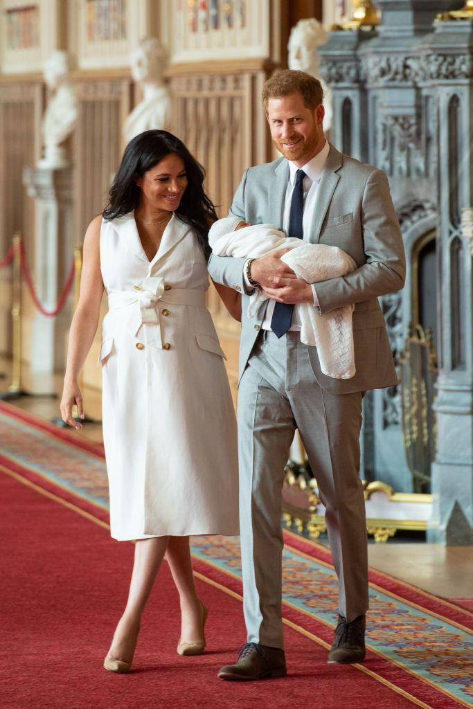 "**May 2019: Meghan Markle and Prince Harry share the first photos of baby Archie**<br><br>  In early May, Meghan and Harry revealed [the first photos of a then-newborn Archie](https://www.harpersbazaar.com.au/culture/royal-baby-photos-2019-18615|target=""_blank"").<br><br>  At the time, Meghan described motherhood as ""magic"" and told media, ""I have the two best guys in the world so I'm happy.""<br><br>  When asked who the newborn most closely resembles, Harry responded: ""His looks are changing every single day so who knows."""