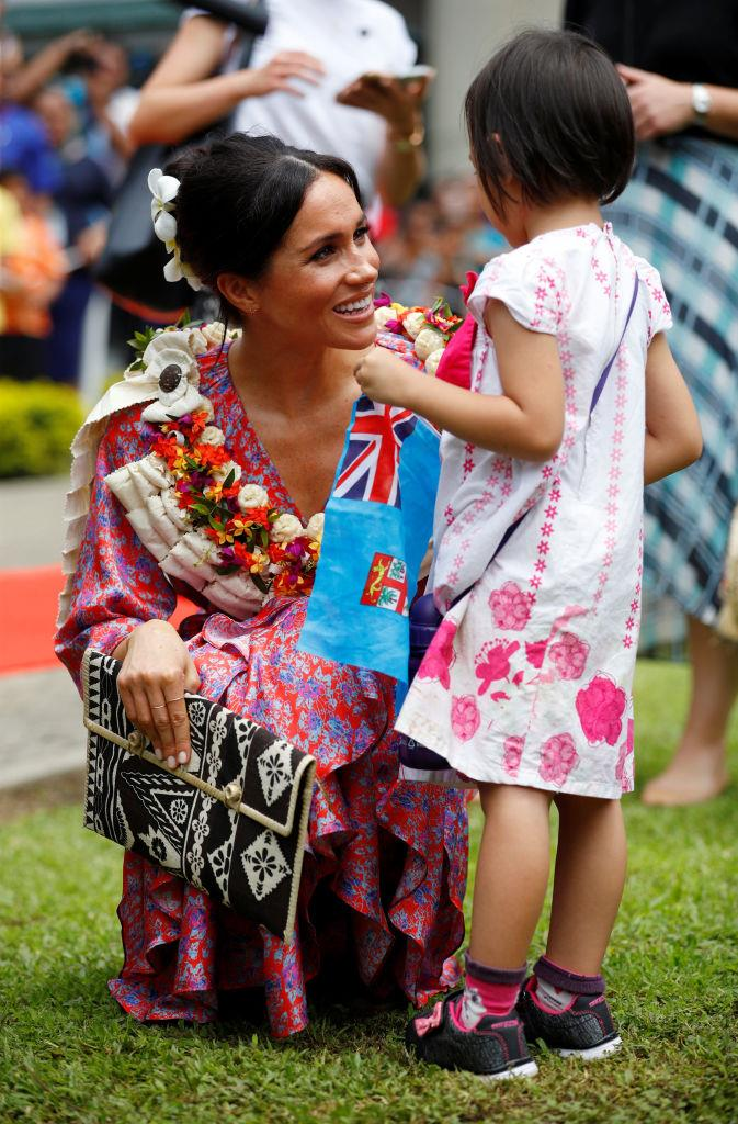 **October 2018: Meghan Markle completes her first royal tour**<br><br>  Along with Australia, Meghan also visited Fiji (pictured here), Tonga and New Zealand as part of her first royal tour. During her visit, the Duchess frequently wore garments by local and traditional designers to honour the different countries.