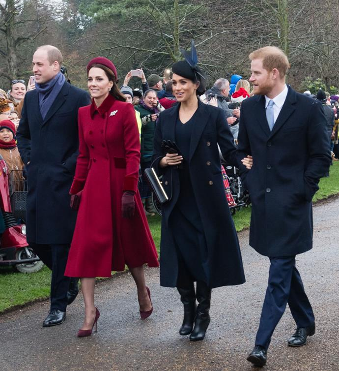 **December 2018: Meghan Markle and Prince Harry celebrate their first Christmas as newlyweds and expectant parents**<br><br>  Meghan Markle and Prince Harry spent their first Christmas as newlyweds and expectant parents by joining the rest of the royal family for a church service at Sandringham.<br><br>