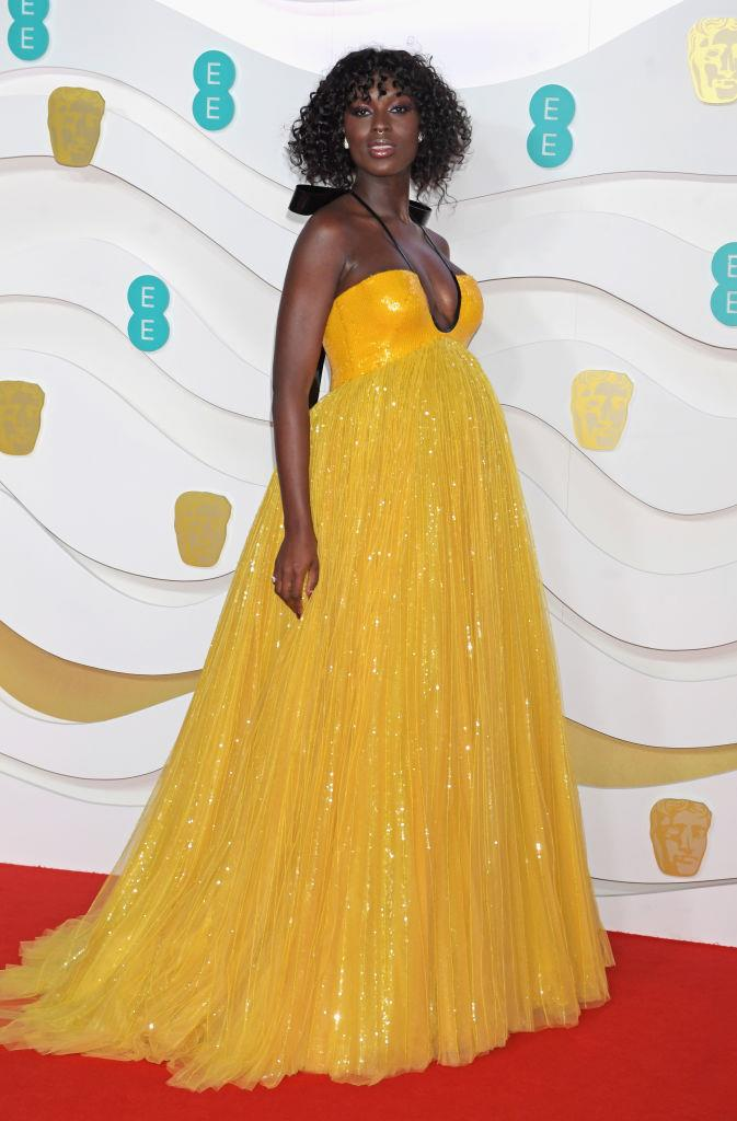 """**Jodie Turner-Smith** <br><br> Turner-Smith started out as a model in the 2000s, and even appeared in a music video for a song by The-Dream and Kanye West (an experience that she hilariously recounted on an episode of *[The Graham Norton Show](https://www.youtube.com/watch?v=E6UalG6zpTM target=""""_blank"""" rel=""""nofollow"""")*). In 2020, she's an acclaimed actress, starring in films like *Nightflyers* and *Queen & Slim* (pictured here at the [2020 BAFTAs](https://www.harpersbazaar.com.au/fashion/baftas-2020-red-carpet-19862 target=""""_blank"""") wearing custom Gucci)."""