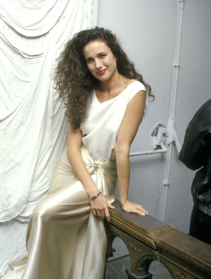 """**Andie MacDowell** <br><br> *Four Weddings & a Funeral*'s Andie MacDowell modelled for Yves Saint Laurent, Gianni Versace and Armani in the '80s, before she ventured into acting. Her two daughters, Rainey and [Margaret Qualley](https://www.harpersbazaar.com.au/culture/margaret-qualley-once-upon-a-time-in-hollywood-19168 target=""""_blank""""), are also former models who now act, with Qualley starring in 2019's *[Once Upon a Time in Hollywood](https://www.elle.com.au/culture/once-upon-a-time-in-hollywood-true-story-21079 target=""""_blank"""")*."""