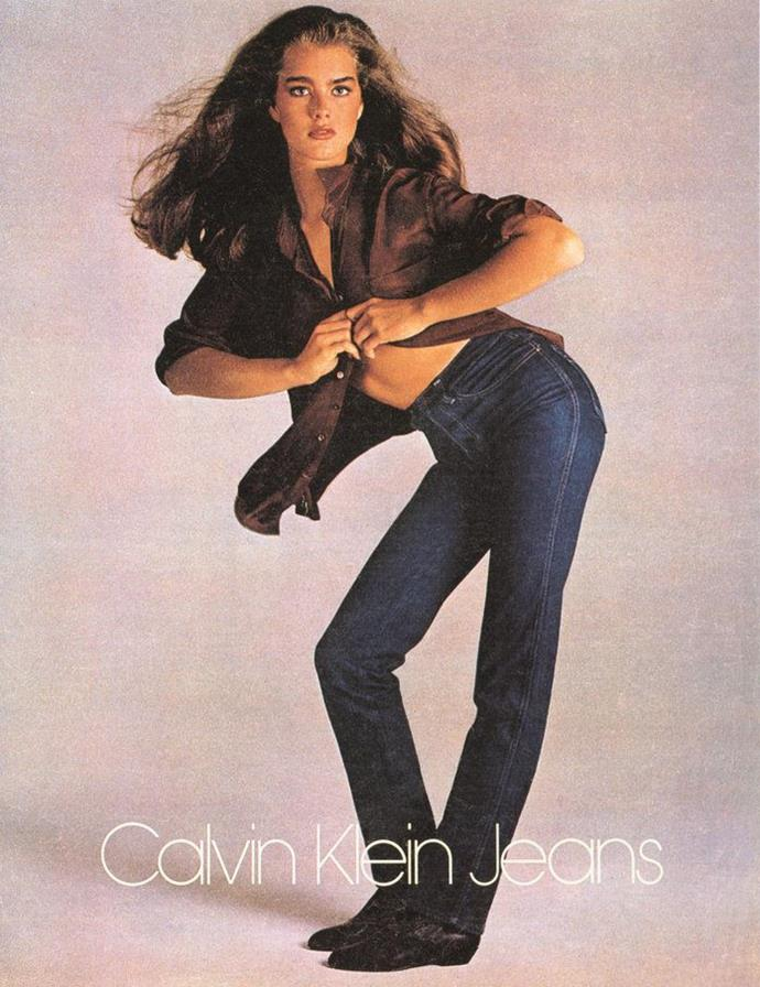 **Brooke Shields** <br><br> Famous for roles in films like *The Blue Lagoon* and *Endless Love*, Shields started out as a child model. When she was 15, she appeared in iconic (albeit controversial) fashion campaigns for Calvin Klein, taken by prolific fashion photographer Richard Avedon.