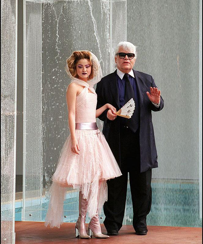"""**Devon Aoki** <br><br> Before starring in various action films, Aoki was actually one of the most popular models of the late '90s and early 2000s. Here, she's pictured with the late [Karl Lagerfeld](https://www.harpersbazaar.com.au/fashion/chanel-muses-18243 target=""""_blank"""") closing Chanel's Haute Couture autumn/winter '00 show."""