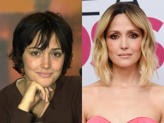 **Rose Byrne**<br><br>  Rose Byrne made her local onscreen debut in the film *Dallas Doll* in 1994, before landing her first leading role in the 2000 film *The Goddess of 1967* (pictured left in the same year, pictured right in January 2020). She has since starred in numerous commercially and critically successful projects including the blockbuster *Bridesmaids* and the psychological thriller series *Damages*, for which she earned two Emmy Award nominations.