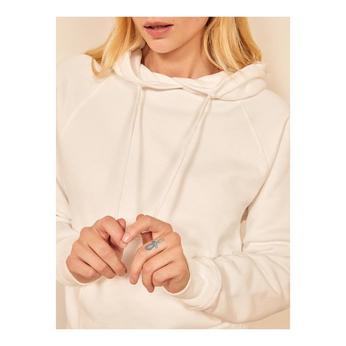 "**'Tanner' classic hoodie by Reformation, $148 at [Reformation](https://fave.co/3e0HS4s|target=""_blank""