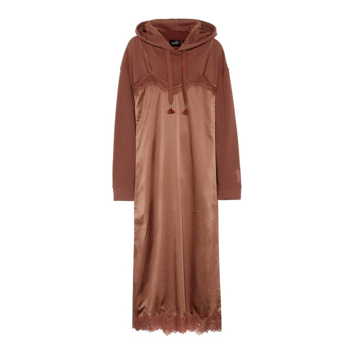 "**Hoodie-slip dress by Fenty by Rihanna, $264 at [Mytheresa](https://fave.co/2XdrFmo|target=""_blank""