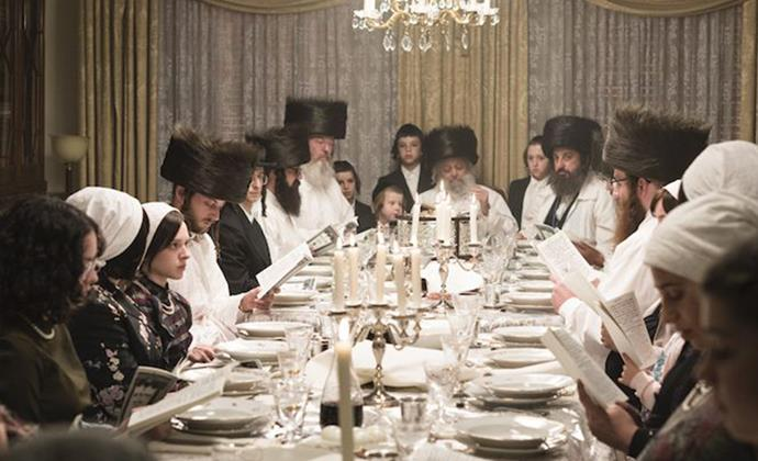 """***Unorthodox* leaves out the important elements of Feldman's life in an Orthodox Jewish community.** <br><br> Feldman was brought up in the insular community's strict guidelines, that decided everything from what she wore to where she went.  <br><br> """"When you're watching the series, you don't really meet anyone far beyond Esty's family. The community is there in the background, but it never confronts you. You have a rabbi, but you don't see her in school, you don't see anyone in the synagogue,"""" Feldman says.  <br><br> """"It's not about explaining the world in which the story takes place. It's just about the story itself."""""""