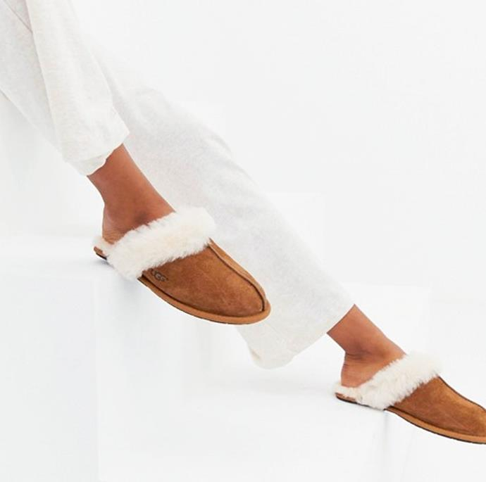 """**Scuffette II Slipper, $120, at [UGG Australia](https://au.ugg.com/product/scuffette-ii-slipper/UGG5661CHE.html