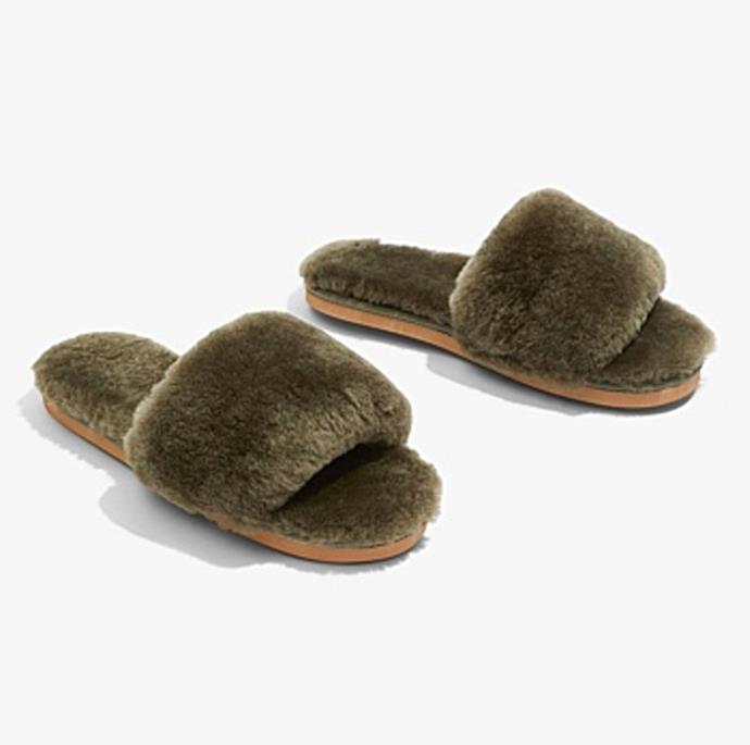 """**Shearling Slide, $79.95, at [Country Road](https://www.countryroad.com.au/product/60251759-119/Shearling-Slide.html
