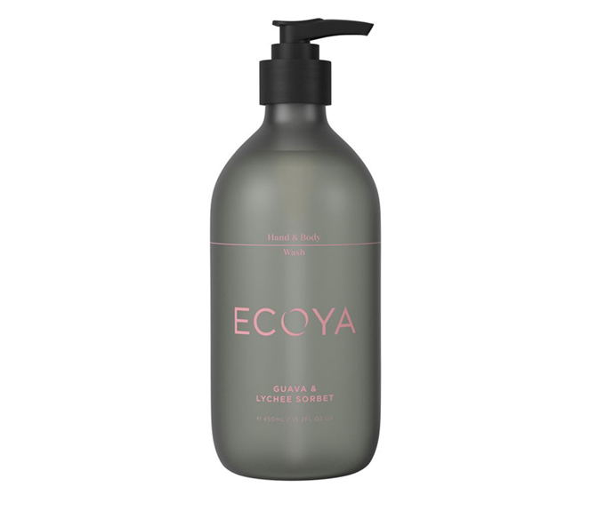 "**Guava & Lychee Sorbet Hand & Body Wash by Ecoya, $25.95 at [Myer](https://www.myer.com.au/p/ecoya-hand-body-wash-guava-lychee-sorbet|target=""_blank"")**<br></br> A syrupy sorbet-inspired scent for those partial to the sweeter side."