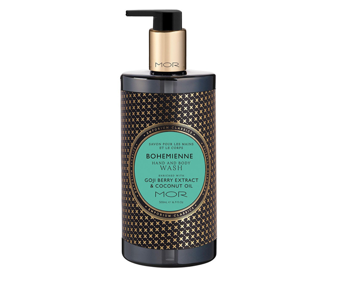 "**Bohemienne Hand & Body Wash by MOR, $29.95 at [Myer](https://www.myer.com.au/p/mor-mor-hand---body-wash-500ml-bohemienne|target=""_blank"")**<br></br> Goji berry and coconut make for a deliciously decadent rinsing ritual."