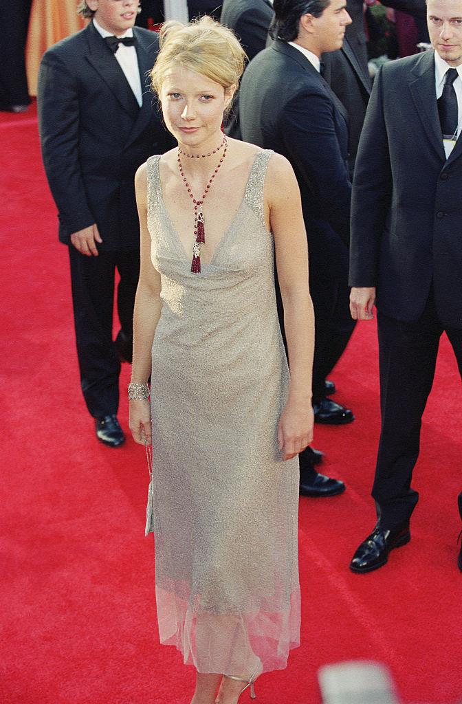 Paltrow in the Calvin Klein dress at the 2000 Oscars.