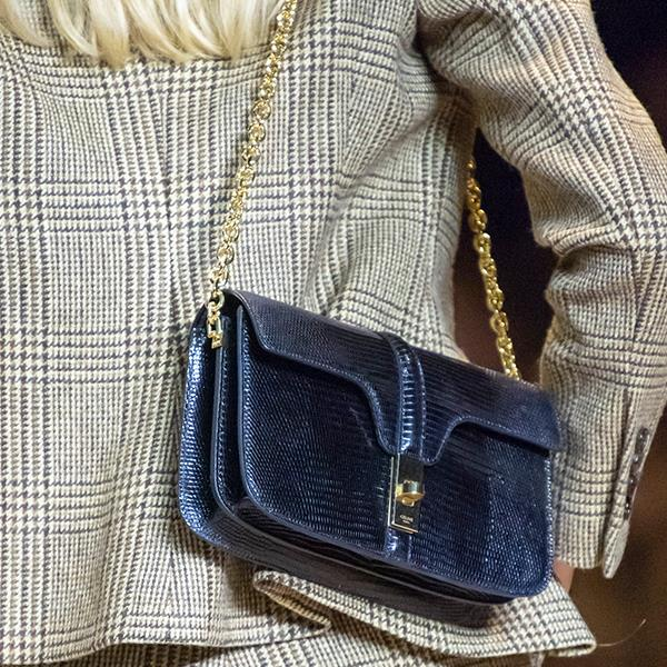 """**Caroline Tran, Fashion Editor** <br><br/> """"I love the hands-free style of Celine's chain shoulder bag, it's the perfect transition from a busy day to after-work drinks. I would wear the bag with a tee and jeans, or a black mini dress to take it to evening."""""""