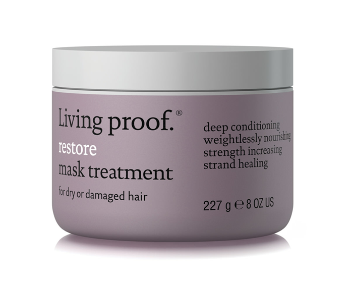 "**Restore Treatment Mask by Living Proof, $69 at [MECCA](https://www.mecca.com.au/living-proof/restore-treatment-mask/I-013418.html?cgpath=hair-treatments|target=""_blank"")**<br></br> Restore shine, strength and moisture in one hydrating hit with this silicone-free emollient blend, designed to repair and protect against dryness and damage."
