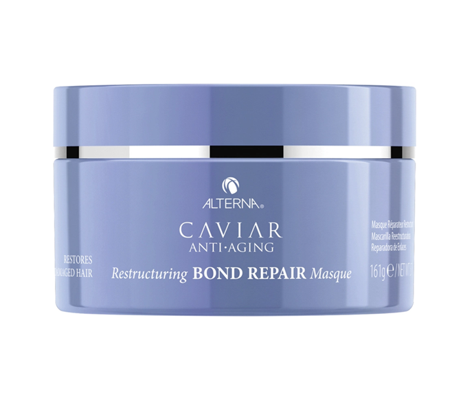 "**Caviar Anti-Aging Restructuring BOND REPAIR Masque by Alterna, $50 at [Sephora](https://www.sephora.com.au/products/alterna-caviar-anti-aging-restructuring-bond-repair-masque/v/160ml|target=""_blank"")**<br></br> A deeply reparative nourishing formula able to smooth strands directly from the cuticle, it enhances elasticity and gloss while also repairing broken bonds."