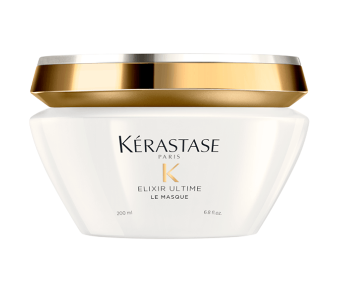 "**Elixir Ultime Beautifying Oil Masque by Kérastase, $66 at [Adore Beauty](https://www.adorebeauty.com.au/kerastase/kerastase-elixir-ultime-beautifying-oil-masque-200ml.html|target=""_blank"")**<br></br> If shine and softness sit atop your wishlist with hydration, this blend of hydrating argan and gloss-boosting camellia oils will be hard to beat."