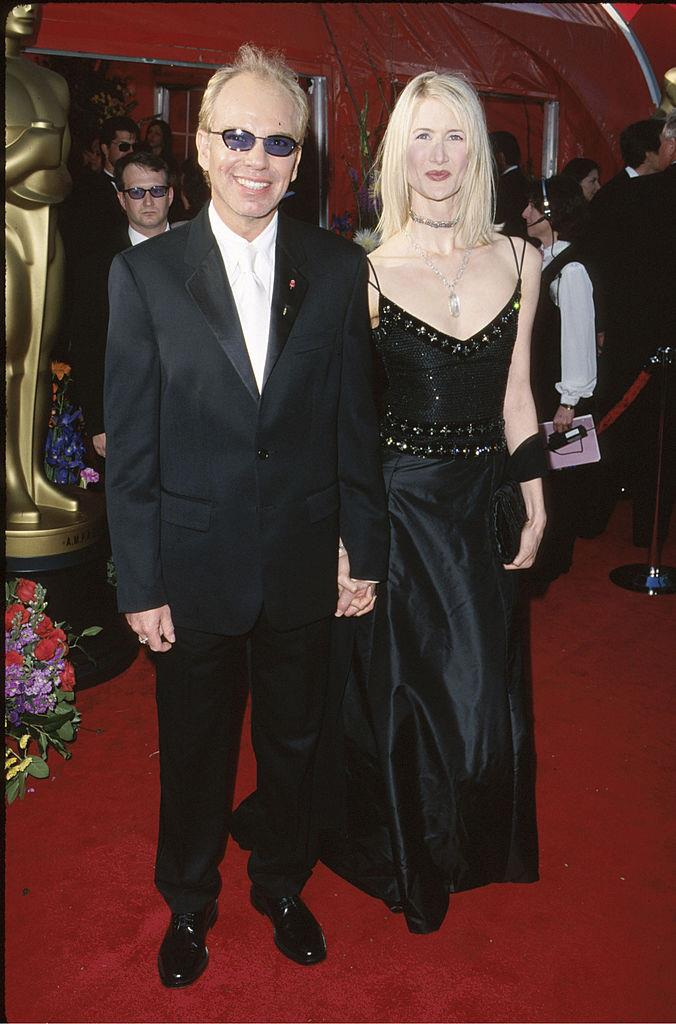 """**Laura Dern and Billy Bob Thornton** <br><br> In 1997, Laura Dern famously played Ellen DeGeneres' love interest in the """"Coming Out"""" episode of the *Ellen* sitcom—which is also where she met her soon-to-be boyfriend, Billy Bob Thornton. The pair were together for around two years in the late '90s, but things ended in a very abrupt way. <br><br> You might remember that Thornton later married [Angelina Jolie](https://www.harpersbazaar.com.au/celebrity/brad-pitt-angelina-jolie-alcohol-divorce-19675