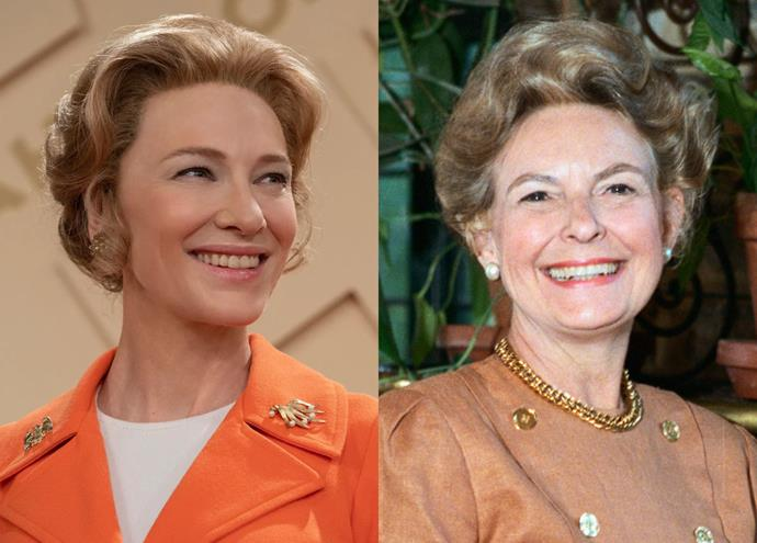"""**Cate Blanchett as Phyllis Schlafly**<br><br>  Australian Academy Award-winner Cate Blanchett marks her debut as a U.S. series-regular by playing Phyllis Schlafly, a controversial figure in the women's movement. Per [*The New York Times*](https://www.nytimes.com/2016/09/06/obituaries/phyllis-schlafly-conservative-leader-and-foe-of-era-dies-at-92.html