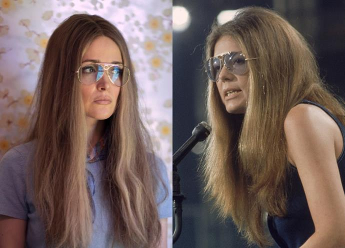 """**Rose Byrne as Gloria Steinem**<br><br>  *Bridesmaids* and *Damages* star Rose Byrne plays renowned feminist Gloria Steinem, who was one of the foremost figures of the women's movement in the '60s and '70s. Steinem was one of the first columnists for *New York* magazine, and even co-founded *[Ms.](https://msmagazine.com/