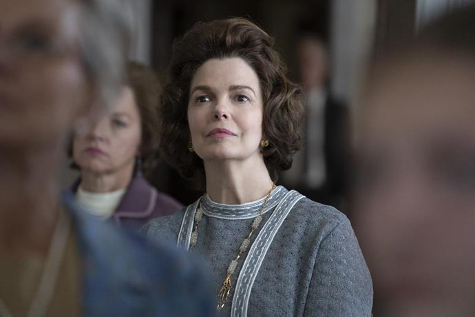 **Jeanne Tripplehorn as Eleanor Schlafly**<br><br>  *Big Love* and *Criminal Minds*'s Jeanne Tripplehorn plays Fred Schlafly's sister, Eleanor Schlafly. Like Fred and Phylllis, Eleanor was a conservative, and known for being a prominent Catholic civic leader and activist.