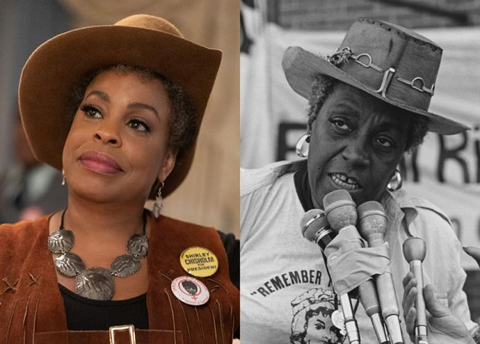 """**Niecy Nash as Florynce """"Flo"""" Kennedy**<br><br>  *When They See Us* star Niecy Nash takes on the roll of Florynce """"Flo"""" Kennedy, a civil rights activist, feminist and lawyer. Kennedy, who passed away in 2000, represented the Black Panthers in the mid '60s and founded the Feminist Party in 1971."""