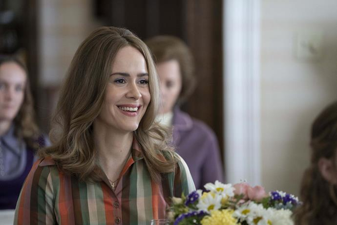 **Sarah Paulson as Alice**<br><br>  *American Horror Story* star Sarah Paulson plays a fictional character named Alice, who is a friend of Phyllis'.