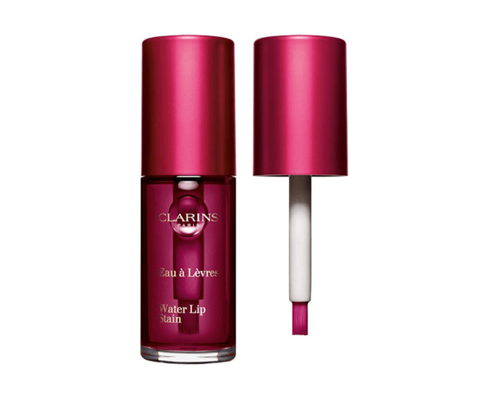 """**Water Lip Stain in Violet Water, $35 by [Clarins](https://www.clarins.com.au/water-lip-stain/C070400151.html target=""""_blank"""" rel=""""nofollow"""")**<br></br> We're big fans of this berry shade, but it's the natural inky aesthetic and barely-there feel that seal the deal."""