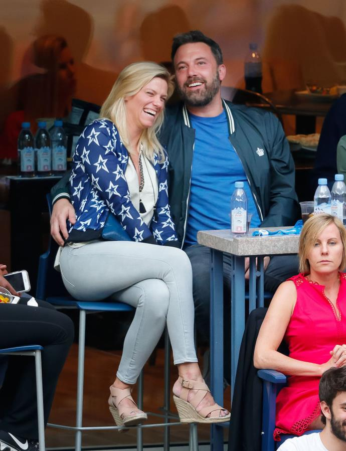 "**Lindsay Shookus** <br><br> Following his divorce, Affleck dated *Saturday Night Live* producer Lindsay Shookus on-and-off between 2017 and 2019. <br><br> Following their final split in 2019, sources chalked things up to geographical difficulties—Shookus lives and works in New York, while Affleck is based in L.A. Regardless, *[People](https://people.com/movies/ben-affleck-lindsay-shookus-split-again/|target=""_blank""