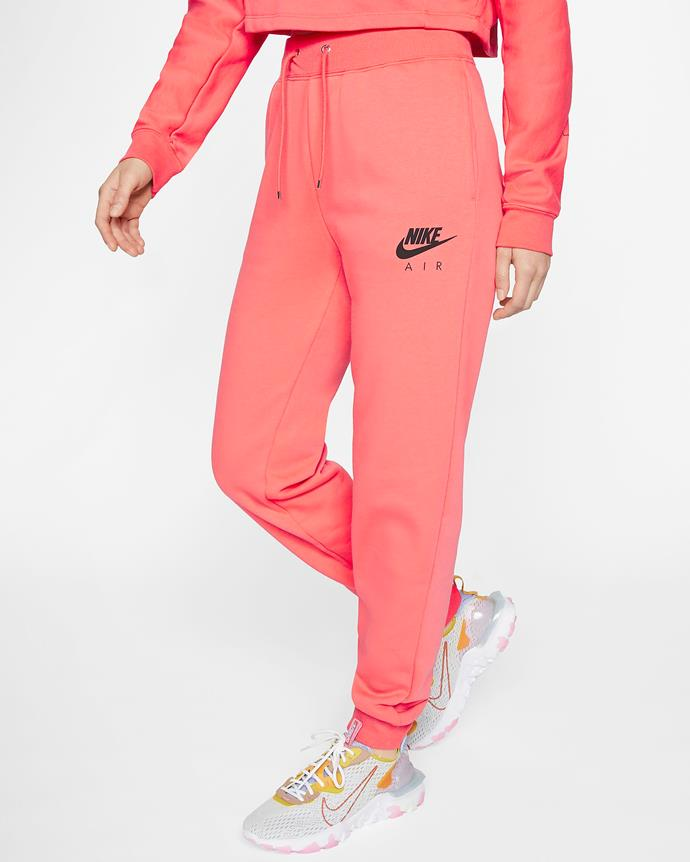 "**8. Nike Air fleece joggers**<br><br>  With the current pandemic forcing everyone inside, it's only mildly surprising that Nike [track pants](https://www.harpersbazaar.com.au/fashion/tracksuits-australia-20232|target=""_blank"") have come in at eighth place on the list.<br><br>  *Women's fleece trousers by Nike Air, $85 at [Nike](https://fave.co/3aIACas