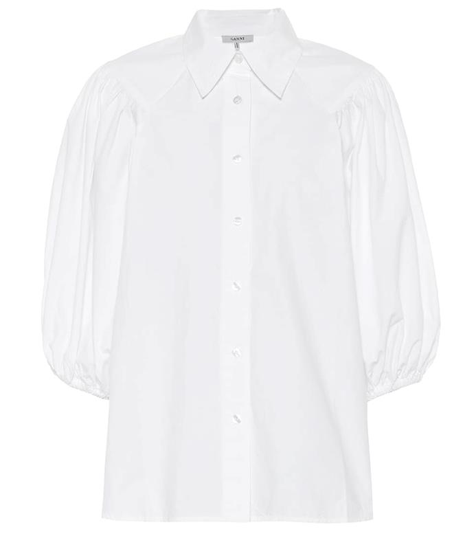 "**9. Ganni cotton shirt**<br><br>  Danish cult-favourite Ganni continues its reign as one of the most desireable [Scandi brands](https://www.harpersbazaar.com.au/fashion/scandi-brands-2019-18409|target=""_blank"") on the market. Its range of breezy cotton shirts, in particular, are largely sold out everywhere, and currently sit in ninth place on the list.<br><br>  *Cotton poplin shirt by Ganni, now $116 at [Mytheresa](https://fave.co/3aVwdkI