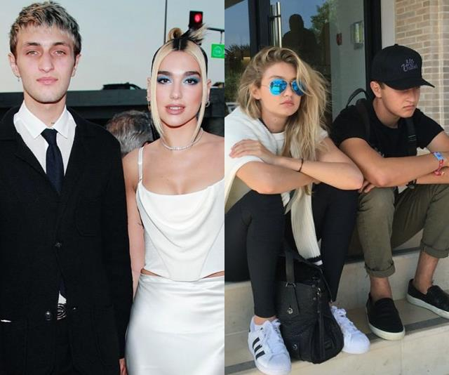 "**Anwar Hadid** <br><br> **Relationship:** Gigi's Brother <br><br> The youngest sibling, Anwar Hadid, is arguably the most low-key member of the Hadid family. With his modelling career taking off, Anwar has started to make waves in the fashion industry, and has even been [dating pop singer Dua Lipa](https://www.elle.com.au/celebrity/dua-lipa-anwar-hadid-move-in-21176|target=""_blank"") since 2019."