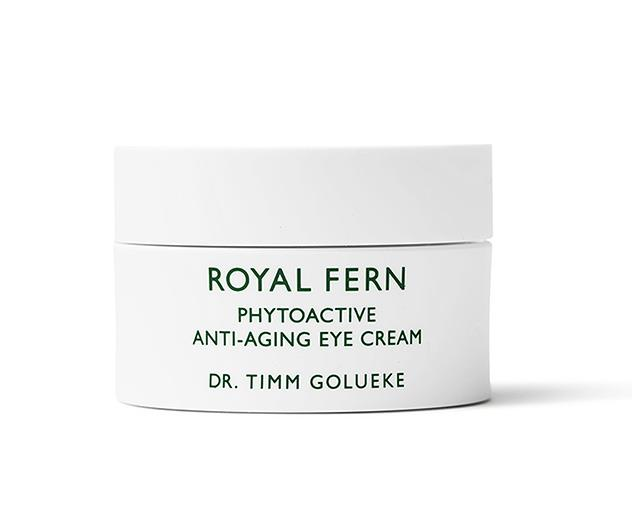 """**Step 4: Eye care** <br><br> """"For my eyes I like a rich eye cream, sometimes layered over an eye serum. This step keeps the fine, delicate skin around my eyes nourished, firm and supple, and plumps out any fine lines."""" <br><br> *Grant uses: Royal Fern Phytoactive Anti-Ageing Eye Cream, $275 at [Skin Care Edit](https://skincareedit.com/royal-fern-phytoactive-anti-ageing-eye-cream/