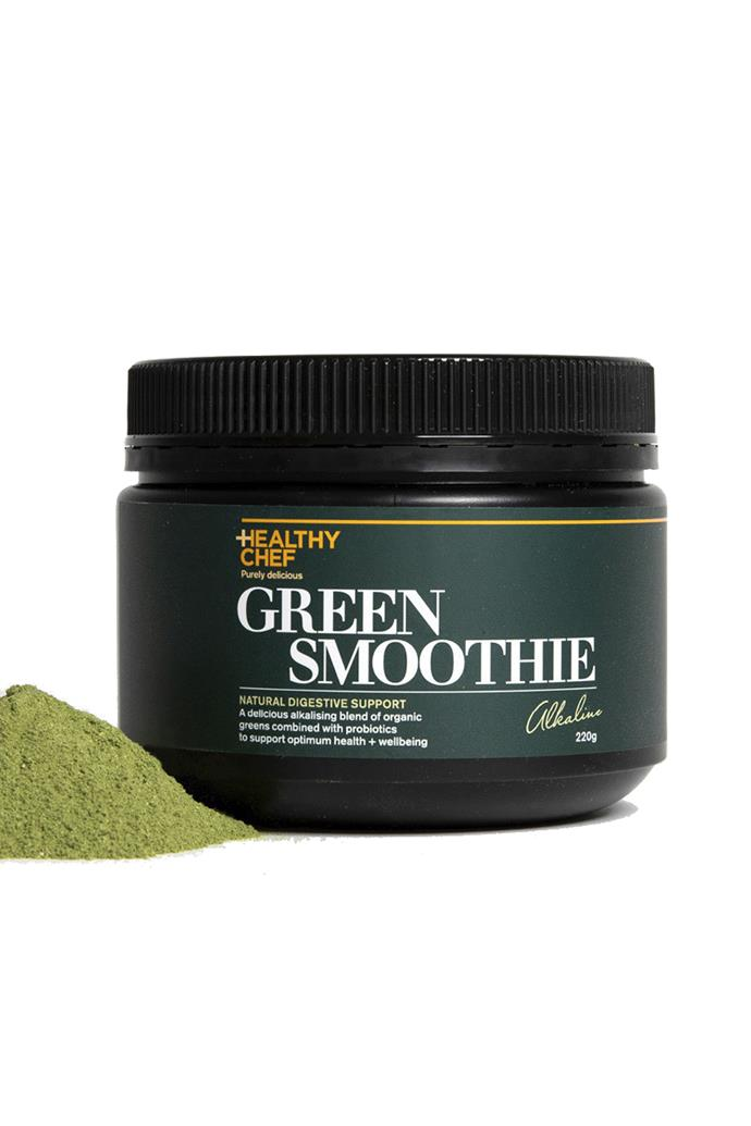 """**Green Smoothie 220g by The Healthy Chef, $64.95 at [Stylerunner](https://fave.co/2SEirfX