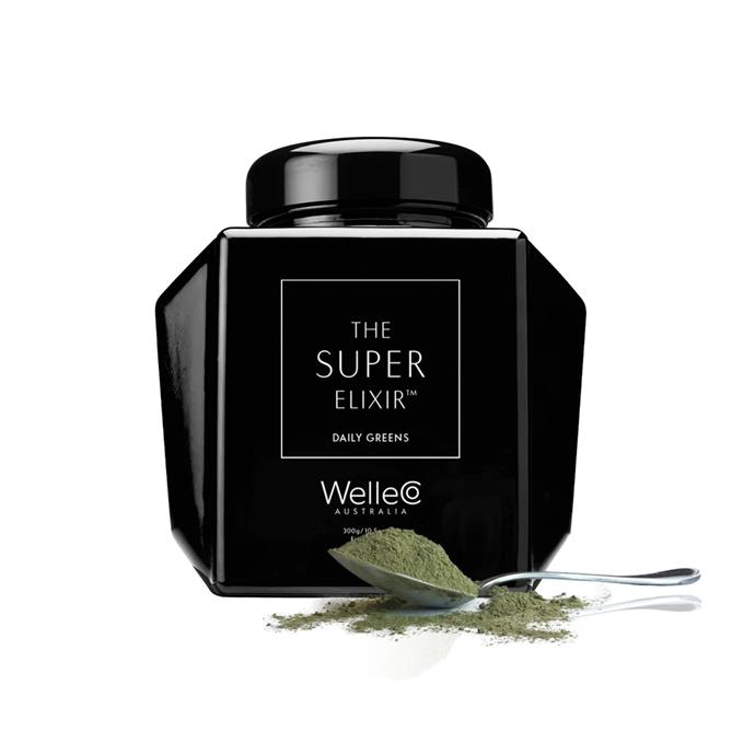 "**SUPER ELIXIR Greens Refillable Caddy 300g by WelleCo, $145 at [Adore Beauty](https://fave.co/2xwR5AS|target=""_blank""