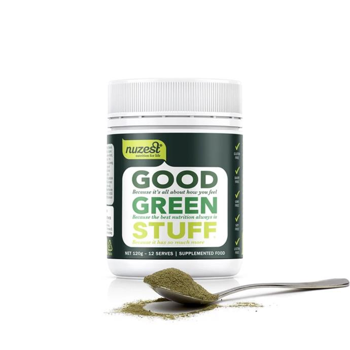 "**Good Green Stuff by Nuzest, from $37.95 at [Nourished Life](https://fave.co/3debZEf|target=""_blank""