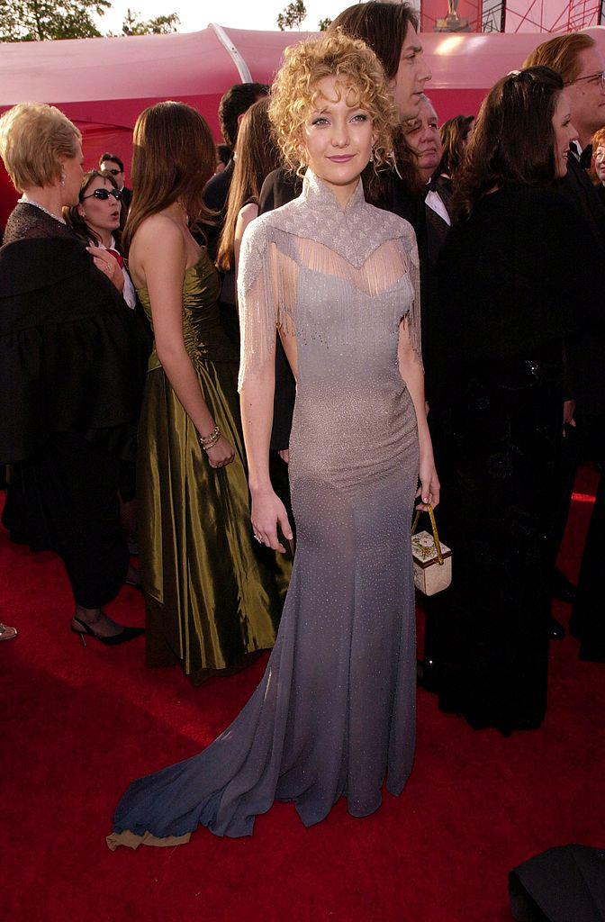 "**Kate Hudson** <br><br> When Hudson was nominated for an Oscar for her performance in *Almost Famous*, she attended the 2001 ceremony in this unconventional Stella McCartney number, which landed her on multiple 'worst-dressed' lists that year. <br><br> In a 2011 [interview](https://www.vogue.co.uk/article/kate-hudson-on-stella-mccartney|target=""_blank""