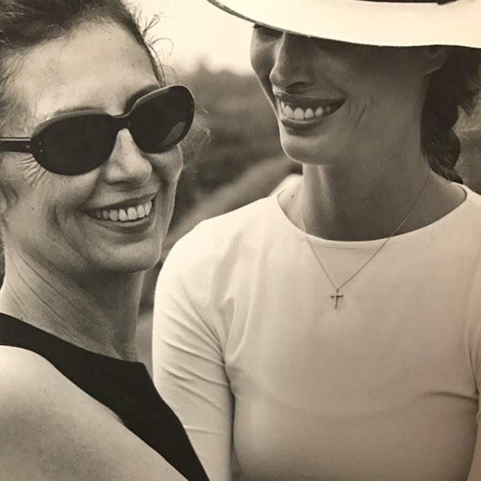 "**Christy Turlington Burns** <br><br> ""Me and my Mama in #ElSalvador in the 90's photographed by @kurtmarkusphoto for @latina Always the most fun and glamorous and always up for adventure. Thank you for sharing your love of travel, continuing education, service and friendship. Happy Mother's Day @epturlington 🧡🌸🧡🌸"" <br><br> *Image: Instagram [@cturlington](https://www.instagram.com/p/CABcCbwAyo1/