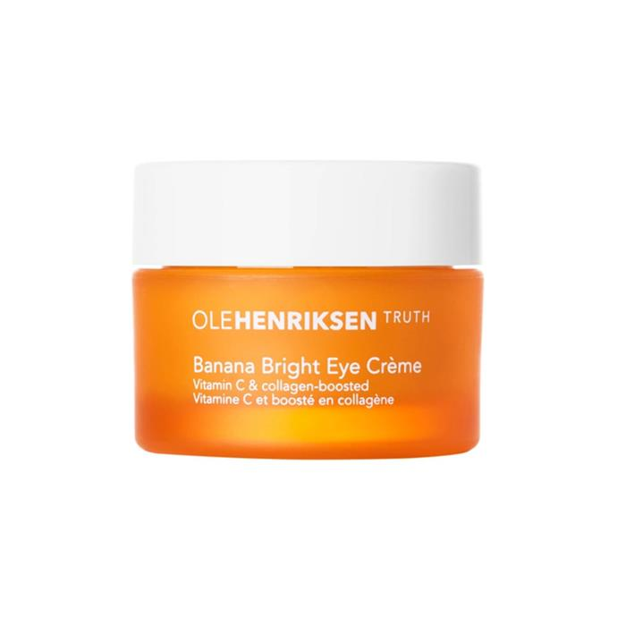 """**Ole Henriksen 'Banana Bright' Eye Crème** <br><br> ***Why we love it:*** This zesty cream brightens the eye area with the help of a little vitamin C (a skincare holy grail), and features an almost mouth-watering banana scent. <br><br> *$57 for 15mL, available at [Sephora](https://fave.co/3dBVv8S