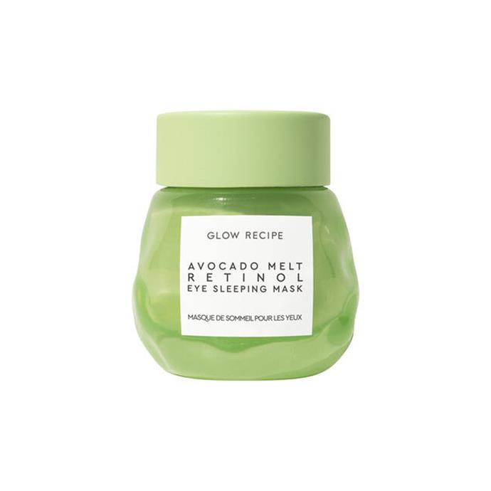 """**Glow Recipe 'Avocado Melt' Eye Sleeping Mask** <br><br> Another popular product from cult [K-beauty](https://www.elle.com.au/beauty/buy-korean-beauty-products-australia-17808