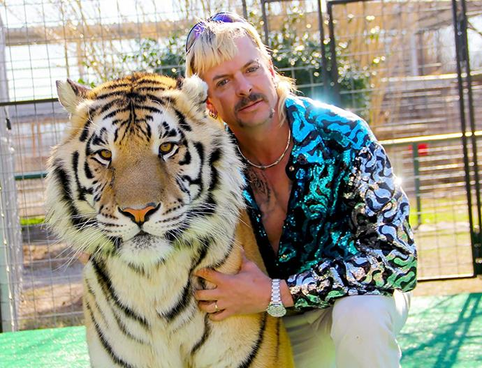 """***[Tiger King: Murder, Mayhem & Madness](https://www.netflix.com/au/title/81115994 target=""""_blank"""" rel=""""nofollow"""")* (2020)** <br><br> There are few ways to describe *Tiger King* other than pure, unmitigated madness, and if you weren't lured in by [memes](https://www.elle.com.au/preview/culture/tiger-king-facts-memes-23290 target=""""_blank"""" rel=""""nofollow"""") around the Internet, now's the time to give it a go. Diving head-first into the world of illegal wild animal trading in the United States, the docuseries has bestowed a new level of viral infamy on tiger zoo owner Joe Exotic (pictured) and 'cat rights activist' Carole Baskin. All in all, it's a chaos-fest that definitely deserves your attention."""