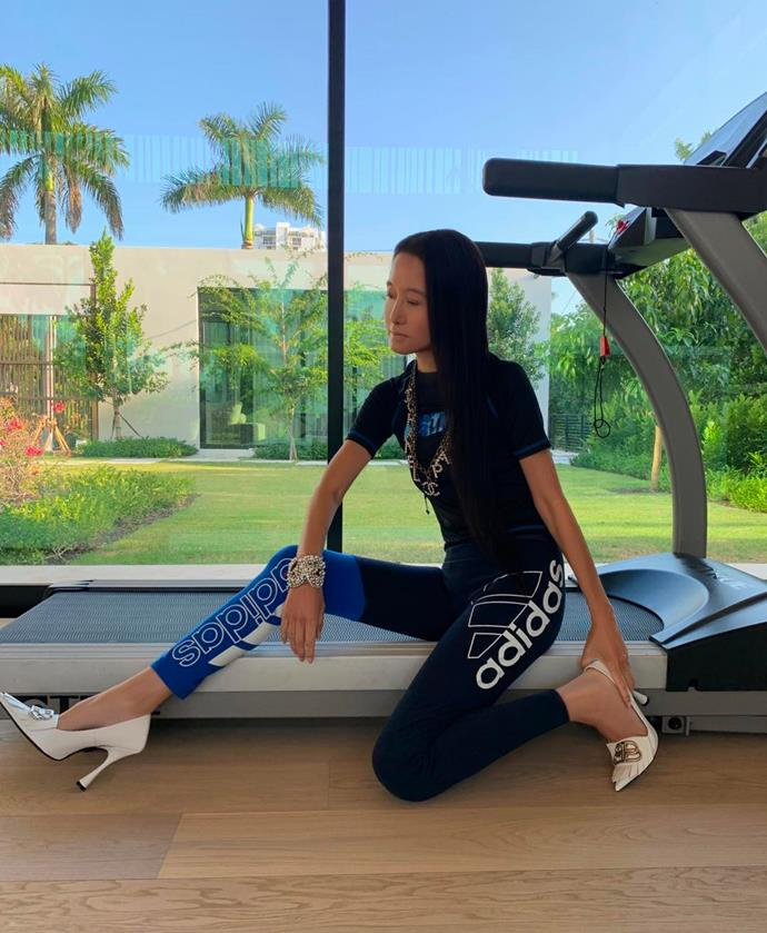 "**EXERCISE: Keep A Regular Work-Out Routine** <br><br> While the fashion designer is currently spending the [coronavirus pandemic](https://www.harpersbazaar.com.au/culture/coronavirus-pandemic-how-to-help-20048|target=""_blank"") working from home, it seems that the people around her have had a huge influence on her newly discovered exercise routine.<br><br>  In a recent interview with *[Harper's BAZAAR U.S.](https://www.harpersbazaar.com/culture/features/a32270993/bazaar-hope-at-home/