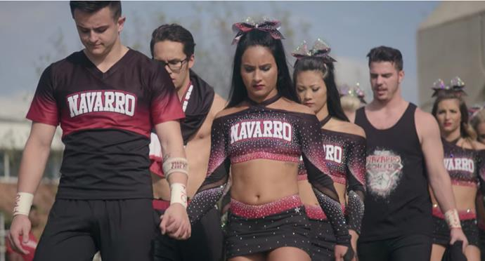 """***[Cheer](https://www.netflix.com/au/title/81039393 target=""""_blank"""" rel=""""nofollow"""")* (2020)** <br><br> Netflix's *Cheer*—which details the experiences of a group of college-age cheerleaders from rural Texas—was a wildcard success, and has been green-lit for a second season. Under their ruthless coach, Monica Aldama, the show sees each young cheerleader risk major injury for a spot at national finals, while taking a look at some of their emotional personal lives."""