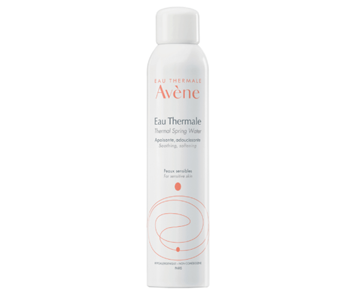 "**Eau Thermal Spring Water by Avène, $25.95 at [Adore Beauty](https://www.adorebeauty.com.au/avene/avene-thermal-spring-water-300ml.html|target=""_blank""