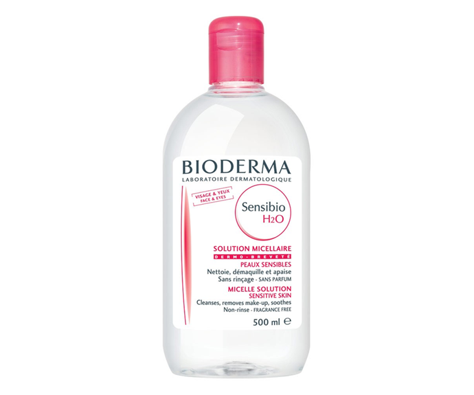 "**Sensibio H2O Micelle Solution by Bioderma, $21.99 at [Adore Beauty](https://www.adorebeauty.com.au/bioderma/sensibio-h2o-micellar-cleanser-250ml.html|target=""_blank""