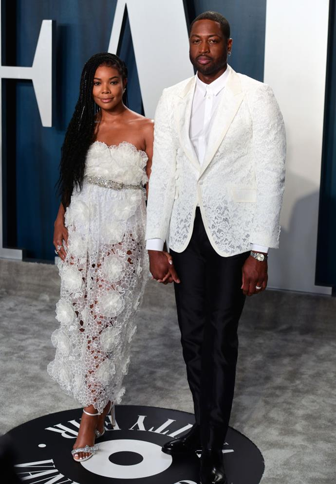 "**Gabrielle Union, 47, and Dwyane Wade, 38**<br><br>  **Age difference:** 9 years<br><br>  The actress and NBA star first met in 2007, but didn't begin dating until 2009. Union previously opened up about their nine-year age gap in a 2012 interview with [*Essence*](https://www.essence.com/love/relationships/black-love-gabrielle-union-and-dwyane-wade/|target=""_blank""), revealing that although she'd been sceptical about their difference in years at first, she quickly realised it wasn't an issue as Wade is ""an old soul"". The pair eventually married in 2014 and welcomed a daughter, Kaavia James, via surrogate in 2018."