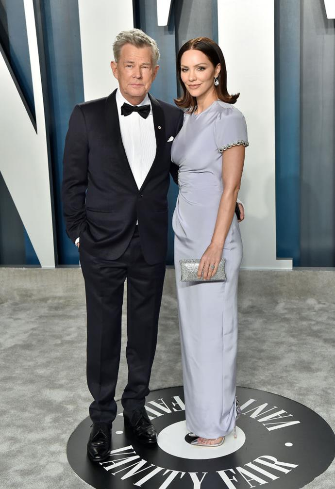 "**Katherine McPhee, 36, and David Foster, 70**<br><br>  **Age difference:** 34 years<br><br>  Famed music producer David Foster and actress-singer Katherine McPhee first met when she was a 21-year-old hopeful competing on *American Idol* and he was acting as a mentor on the show. Their longtime friendship and mutual admiration eventually blossomed into a relationship in 2017, with Foster proposing the following year in Italy with an emerald-cut [engagement ring](https://www.harpersbazaar.com.au/bazaar-bride/unconventional-celebrity-engagement-rings-13152|target=""_blank""). The pair married in London in June 2019."