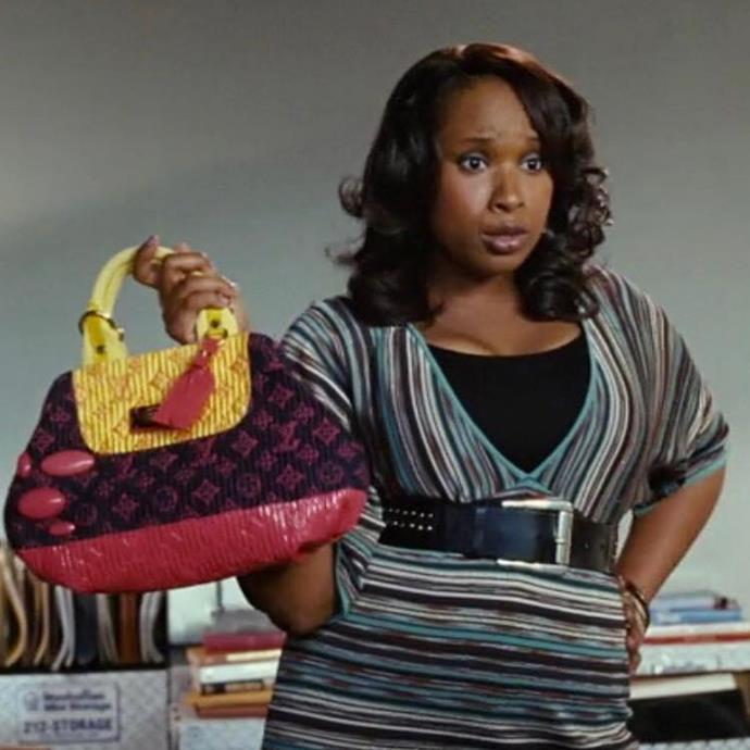 """**Louise's Louis Vuitton handbag in *Sex and the City* (2008)** <br><br> We actually have an entire [article](https://www.harpersbazaar.com.au/fashion/sex-and-the-city-louis-vuitton-bag-20226