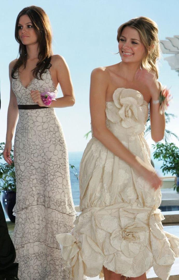 """**Marissa Cooper's Chanel Haute Couture prom dress in *The O.C.* (2006)** <br><br> If anyone could pull off Chanel Haute Couture at their high-school prom, it was Marissa Cooper. Unlike some of the [fake designer pieces](https://www.harpersbazaar.com.au/fashion/the-oc-marissa-fake-designer-wardrobe-17150