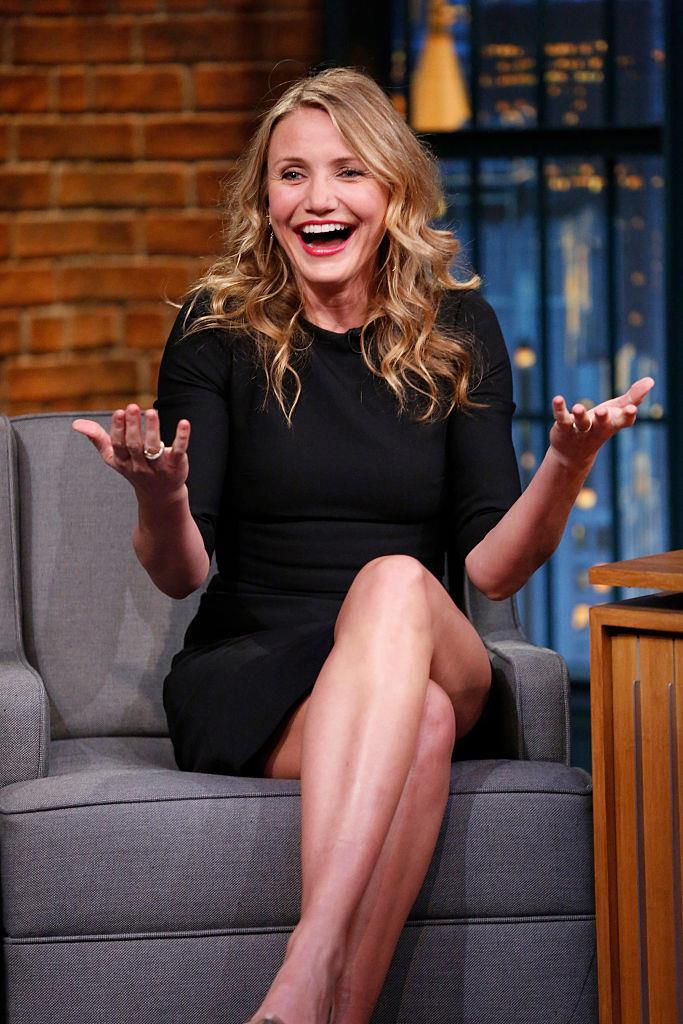 **Cameron Diaz** <br><br> Like many actresses, Diaz worked as a model before she became actress. At 16 years old, she appeared on the cover of *Seventeen* magazine, and appeared in commercials for Coca Cola and Calvin Klein, years before her breakout film role in 1994's *The Mask*.